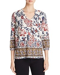 Chelsea And Theodore Pattern Block Blouse Compare At 58 Red Print