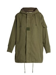 Saint Laurent Oversized Military Hooded Parka Green