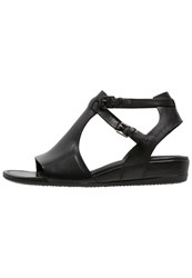 Ecco Touch Wedge Sandals Black