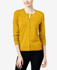 Charter Club Long Sleeve Cardigan Only At Macy's Maize Gold