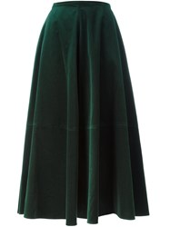 Maison Martin Margiela Mm6 Velvet Maxi Skirt Green
