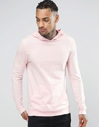 Asos Lightweight Muscle Fit Hoodie In Pink Strawberry Cream
