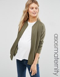 Asos Maternity Ultimate Bomber Jacket Khaki Green