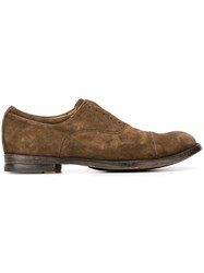 Officine Creative 'Anatomia' Mock Lace Up Slippers Brown