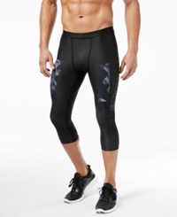 Reebok Men's Compression Cropped Crossfit Leggings Black