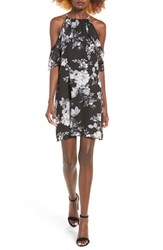 One Clothing Women's Floral Print Cold Shoulder Dress