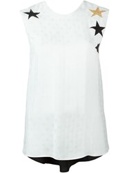 8Pm Glitter Star Print Tank Top White