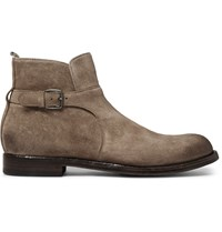 Officine Creative Tempus Suede Jodhpur Boots Brown