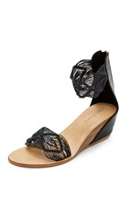 Cocobelle Lilly Demi Wedge Sandals Black