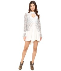 Free People Tell Tale Lace Tunic Ivory Women's Blouse White