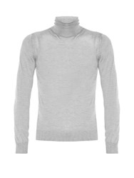 Lanvin Roll Neck Fine Knit Sweater Light Grey