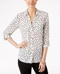 Charter Club Dot Print Button Front Shirt Only At Macy's Cloud Combo