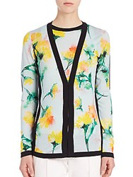 Escada Carnation Print Cardigan Multicolor