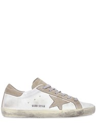 Golden Goose 10Mm Super Star Satin And Suede Sneakers