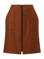 Phase Eight Dillon Wool Skirt Brown