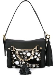 Borbonese Embellished Shoulder Bag Black