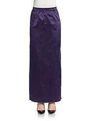 Valentino Long Silk Pencil Skirt Twilight