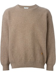 Pierre Cardin Vintage Ribbed Knit Sweater Brown