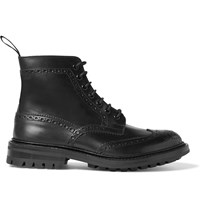 Tricker's Stow Leather Brogue Boots Black