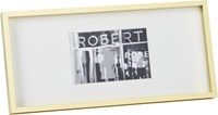 Cb2 Gallery Brass 4X6 Picture Frame