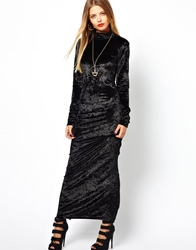 Bitching And Junkfood Alessandro Maxi Dress In Velvet