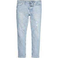 River Island Mens Light Blue Wash Sid Skinny Jeans