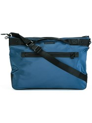 Emporio Armani Detachable Strap Shoulder Bag Blue