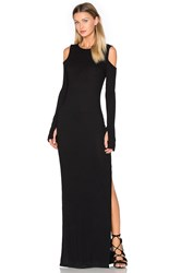 Nytt Cold Shoulder Maxi Dress Black