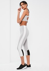 Missguided Active Grey Contrast Sports Leggings