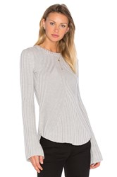 Autumn Cashmere Rib Bell Sleeve Sweater Gray