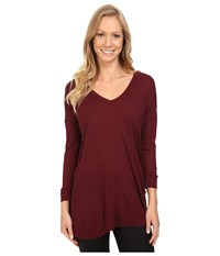 The North Face Nueva 3 4 Tunic Deep Garnet Red Women's Long Sleeve Pullover Brown