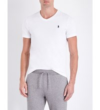 Polo Ralph Lauren Mid Rise Cotton Jersey Jogging Bottoms Winter Grey Heath