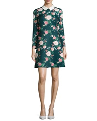 Erin Fetherston Mila Collared Floral Print Cocktail Dress