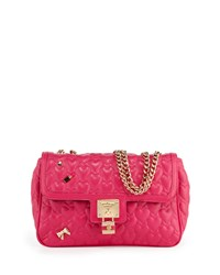 Betsey Johnson Be My Baby Quilted Satchel Bag Fuchsia