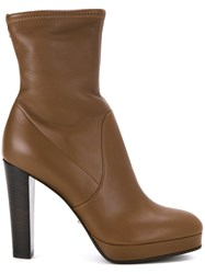 Sergio Rossi Chunky High Heels Boots Brown