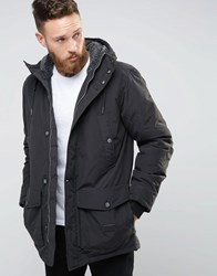 Lee Hooded Parka Coat Washed Black Washed Black