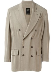 Jean Paul Gaultier Vintage Button Front Jacket Nude And Neutrals