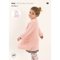 Rico Baby Teddy Aran Children's Coat And Accessories Knitting Pattern 456