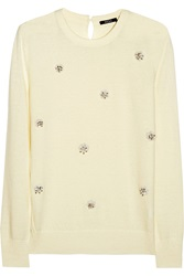 Raoul Embellished Knitted Sweater White