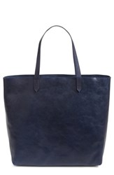 Madewell 'Transport' Leather Tote Blue Ink