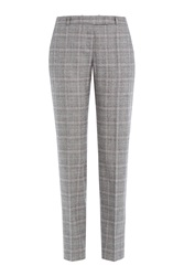 Hugo Wool Blend Checked Trousers Multicolor