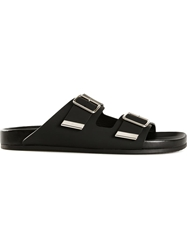 Givenchy 'Swiss' Flat Sandals Black