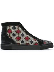 Louis Leeman Hi Top Embellished Sneakers Black