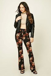 Forever 21 Floral Print Flared Pants