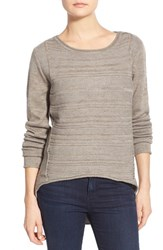 Women's Jag Jeans Boat Neck Drop Tail Sweater Taupe Heather