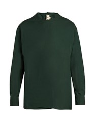Marni Button Back Round Neck Shirt Green