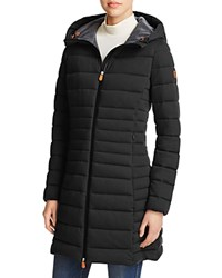 Save The Duck Angy Long Puffer Coat 100 Bloomingdale's Exclusive Black