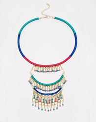 Warehouse Wrapped Chain Necklace Multi