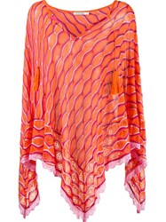 Cecilia Prado Knit Poncho Yellow Orange
