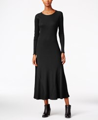G.H. Bass And Co. Waffle Knit Maxi Dress Black